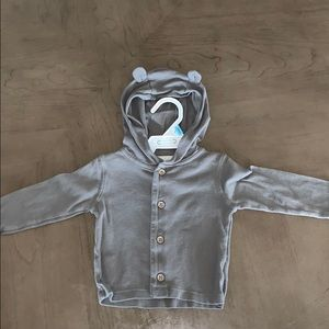 Carter's 6 month gray hooded lightweight cardigan